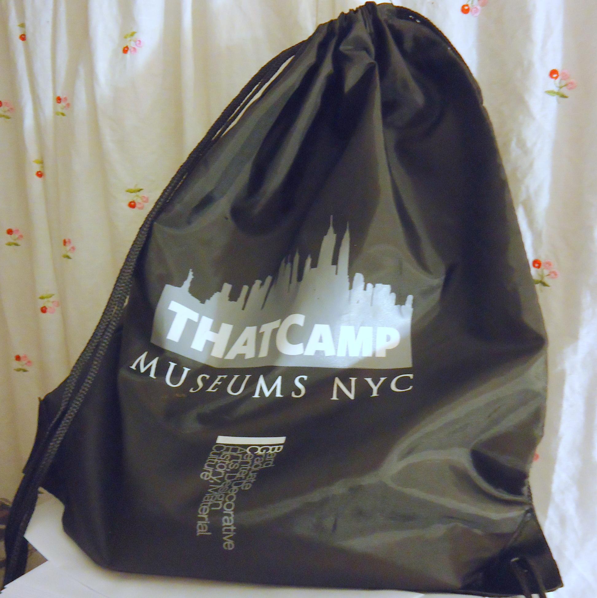 THATCamp Museums NYC souvenir bag
