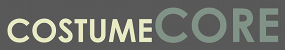 a graphic logo of the text Costume Core